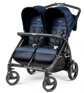 Wózek bliźniaczy BOOK FOR Two Classico INDIGO Peg Perego