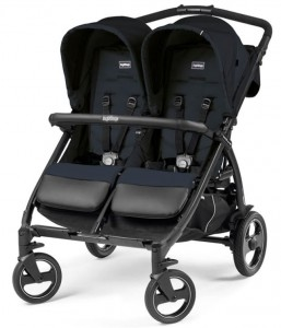 Wózek bliźniaczy BOOK FOR Two Classico CLASS NAVY Peg Perego